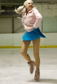 """Yvonne Dowlen is 86. """"When I'm in a bad mood, I look at my contemporaries with their oxygen pillows, put on my skates and smile."""""""