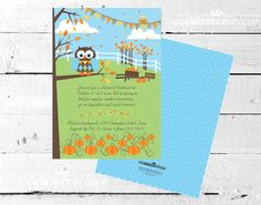 PUMPKIN Patch Party PRINTABLE INVITATION from by CelebrationShoppe, $15.00 Printable Invitations, Party Printables, Pumpkin Patch Party, Kids Birthday Themes, Shower Ideas, Third, Celebration, Baby Shower, Fall