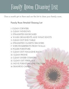 Getting Organized: Family Room Cleaning List - The Bold Abode