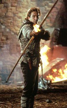 Kevin Costner, Robin Hood: Prince of Thieves from Bull's-Eye: Hollywood's Bows & Arrows Nottingham, Robin Hood, Cuerpo Sexy, Johny Depp, Kevin Costner, Bow Arrows, Por Tv, Ingmar Bergman, Movie Characters