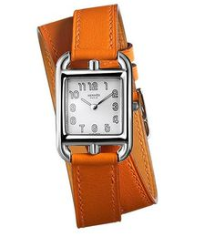 Hermes Cape Cod watch...inspired by the shape of a solitary anchor chain link. Berenia calfskin strap.