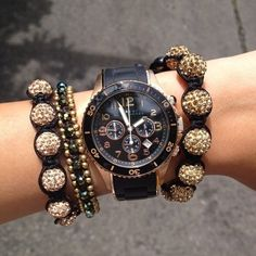 Marc Jacobs Watch ... and my favorite charm bracelets