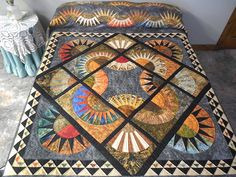 Stonehenge Quilt -- terrific adeptly made Amish Quilts from Lancaster (hs6564)