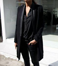 Le parfait total look noir (détail cuir)