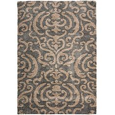 @Overstock.com - Ultimate Dark Grey Shag Rug (8' x 10') - This power-loomed shag rug offers luxurious comfort and unique styling with a raised high-low pile. High-density polypropylene pile features a grey background and provides one of the most plush feels available in a rug.  http://www.overstock.com/Home-Garden/Ultimate-Dark-Grey-Shag-Rug-8-x-10/5665242/product.html?CID=214117 $252.89