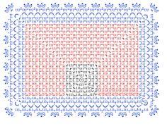 #20のレース糸で編む長方形のドイリー…というかマットです^^長い方の辺が約23㎝で、ドイリーとして使うのはもちろん、カフェマットとかバスケットカバーとして使ってもOKです^^サイズ変更もそんなに難しくないので、ぜひ編ん