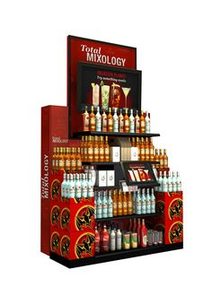 bar station - Total Wine and Bacardi teamed up to create a unique bar station for retail environments that would fuse the best elements of both worlds. Essential Oil Brands, Bar Station, Wine Display, Point Of Purchase, Overhead Lighting, Bacardi, Display Design, Kiosk, Mixed Drinks