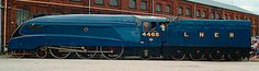 the 4468 Mallard, one of the series from LNER's Express Pacific, reached the world speed record for a steam locomotive km/h) in Diesel Locomotive, Steam Locomotive, Mode Of Transport, Public Transport, Mallard Train, Steam Trains Uk, Station To Station, Travel Ads, Train Art