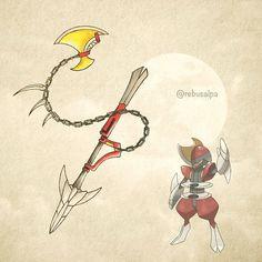 No. 625 - Bisharp. #pokemon #bisharp #銃槍 #pokeapon