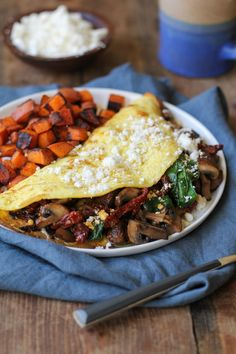 Spinach, Mushroom, Sun-Dried Tomato Omega-3 Omelet