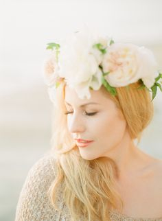 #hair-accessories, #crown, #hairstyles  Photography: Ashley Kelemen - ashleykelemen.com  Read More: http://www.stylemepretty.com/2013/09/11/del-mar-engagement-session-from-ashley-kelemen/