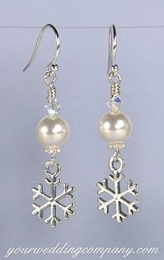 168 Snowflake earrings