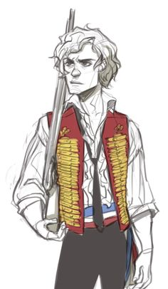 Stage production Aaronjolras - all the good things of enjolras in one single pic <3