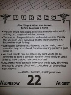 Nursing saying