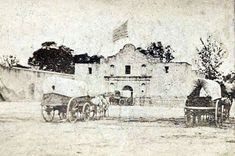 The Alamo - 1868:  ARMY  QUARTERMASTER  DEPOT  The U.S. Army took possession of the Alamo in 1847, and after repairs were made to the church it became a quartermaster's supply depot from 1849 to 1879.