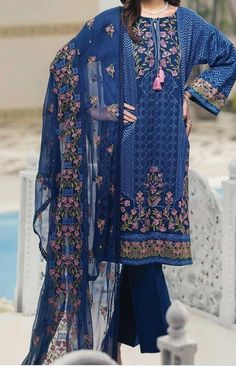 GUL AHMED Light Party Wear And Formal Wear at Retail and whole sale prices at Pakistan's Biggest Replica Online Store New Pakistani Dresses, Pakistani Lawn Suits, Pakistani Dress Design, Pakistani Designers, Kurti Neck Designs, Dress Designs, Pakistani Street Style, Party Wear, Summer Outfits
