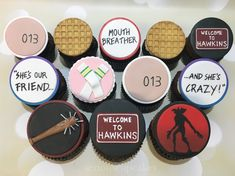 Stranger Things cupcakes