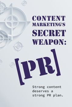 Psst... the secret weapon of content marketing is Public Relations, read more: http://prn.to/1Mw0BCo