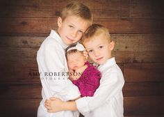 "newborn sibling photo, great because no smile is required and the older child can be in charge of ""holding"""