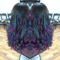 Oil slick hair                                                       …