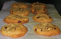Thick, chewy super-yummy you-will -never-know-they-are-gf chocolate chips cookies!