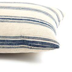 Lyon Ticking Lumbar Pillow via @Serena and Lily BAZAAR