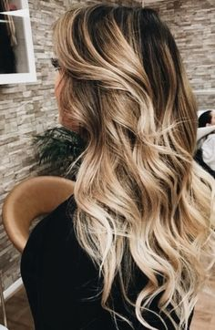 long balayage curls