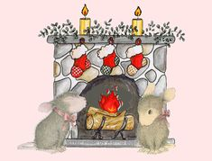 Christmas mice. Thanks Mouse House Designs!