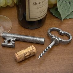 Skeleton Key Bottle Opener with Secret Wine Corkscrew. Definitely just got this in bronze!!! BAM. $35+ online, $1 at the thrift store. :)