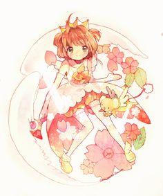 Kinomoto Sakura and Keroberos . Cardcaptor Sakura, Sakura Sakura, Manga Anime, Anime Art, Studio Ghibli, Sakura Card Captors, Otaku, Anime Tattoos, Tatoos