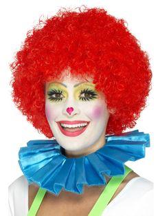 clown lady | Blue Clown Neck Ruffle - 47000 - Fancy Dress Ball