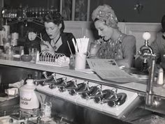Soda fountain, 1940s