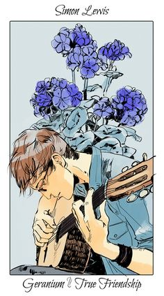[Art by: Cassandra Jean] Simon Lewis (Geranium ~ True Friendship) -Simon, I love him so! Happy that he had a part in the Shadowhunter world. *He's pretty badass!*