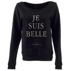 Je Suis Belle Sweater - Black
