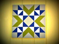 Mini Barn Quilt Wyoming Valley Block Pattern 22 by MiniBarnQuilts