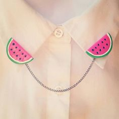 Watermelon Collar Clips by CharlottesCoutique on Etsy