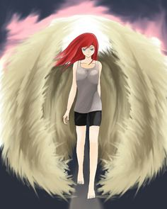 Final angel merly ,hope you like it #anime #angel #redhair #shoujo #originalcharacter