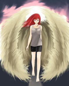 Final angel merly ,hope you like it #anime #angel #redhair #shoujo #originalcharacter