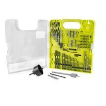 """Check out this RYOBI product -   The RYOBI 60-Piece Drilling and Driving Kit offers a variety of accessories to cover a wide range of applications.  The 1"""" driving bits come in Phillips, slotted, hex, square, and Torx, and the black oxide drill bits range in size from 1/16"""" to 1/4"""".  This kit also comes with nut drivers, masonry drill bits, brad point drill bits, a hole saw, spade bit, and many more accessories all in a convenient carrying case.  See below for more information."""