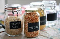 Diy chalk board label jars