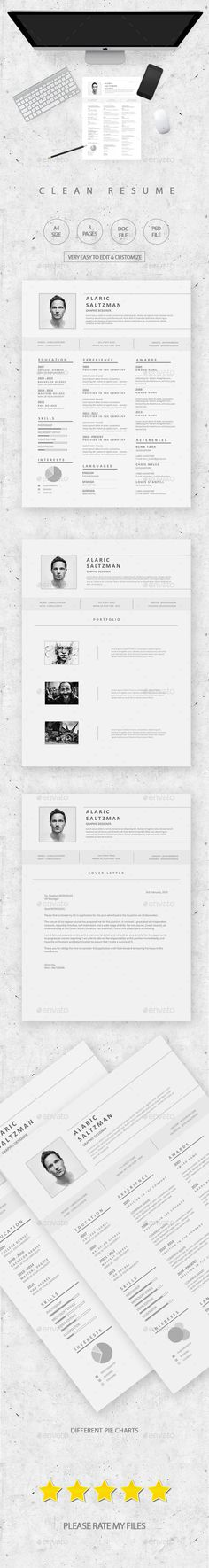 Professional Resume Design Word Template with Cover Letter - resume on word