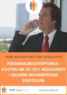 #LeanRecruiting für CEOs und CFOs - Wie steht es um den #Rekrutierungsprozess in Ihrer Firma? Ist dieser auch schon 'lean' genug?  Als #CEO oder #CFO einer Firma solten Sie an ein paar HR-bezogenen Fragen besonders interessiert sein. Um welche es sich handelt erfahren Sie über diesen Pin-Link. Employer Branding, Management, Link, Job Ads, Not Interested, Things To Do, Couple