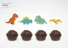 Topper para docinho - Dinossauro