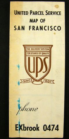 Map 1940's (UPS)  United Parcel Service, San Francisco, Special Division.