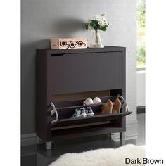 Etonnant Baxton Studio Glidden Dark Brown Wood Tall Modern Shoe Cabinet | For The  Home | Pinterest | Wood Grain, Woods And Modern