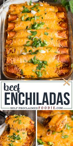 Beef Enchiladas with tender shredded beef, melted cheese, and smothered in red sauce are easy to make with this delicious dinner recipe! beef easy The BEST Shredded Beef Enchiladas Recipe Best Beef Enchilada Recipe, Enchilada Casserole Beef, Enchilada Recipes, Mexican Casserole, Burrito Casserole, Enchilada Pasta, Homemade Enchilada Sauce, Shredded Beef Enchiladas, Cheese Enchiladas