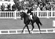 Ivan Kizimov and Ukrainian Saddle Horse Ikhor in 1968 Olympic Games in Mexico. They won individual gold in dressage.