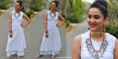 How to style palazzo with kurtis Indian Ethnic Wear.Palazzos with Long A line chikankari kurti. Palazzo suit.