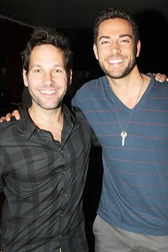 A parting shot of two talented and very nice guys, Paul Rudd and Zachary Levi. Thanks for supporting kids who stutter!