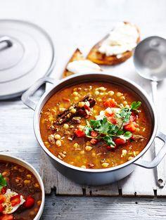 Moroccan Beef Harira with Labna  |  MiNDFOOD
